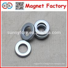 anneau de puissants aimants néodyme 19mm avec trou