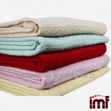 Chinês tricô cashmere cobertor merino lã manta fábrica