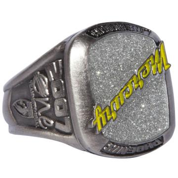 Custom 3D Luxury Design Championship Ring with Glitter