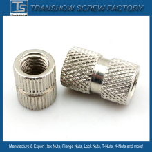 Nickle Plated Knurled Body Round Nut
