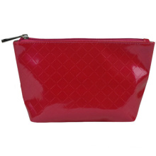 Waterproof Red PU Make up Bag for Cosmetics