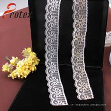 2 Cm Weiß 100% Kleidungsstück Baumwolle Spitze