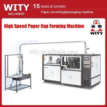 Copo de papel de alta velocidade que dá forma à máquina