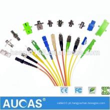 LC SC FC MU MTP MPO MTRJ E2000 Om3 Om4 cabo de remendo da fibra óptica, fábrica do OEM Single & Multimode Fibra Óptica