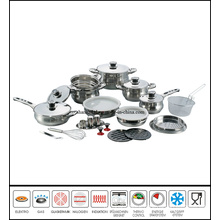 29 Piece Belly Shape Stainless Steel Cookware Set