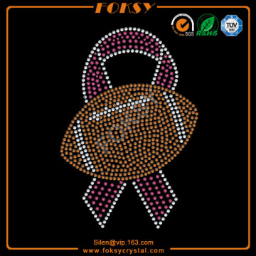 Football in pink ribbon wholesale rhinestone accessories