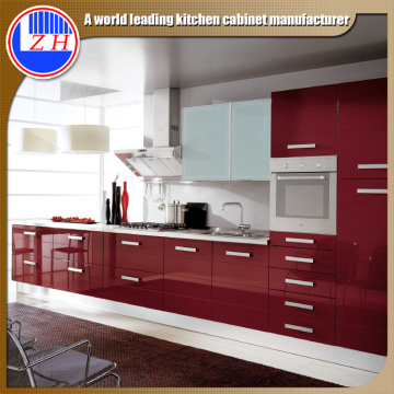 Glossy Wood Kitchen Cabinets (customized)