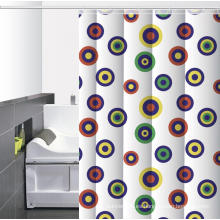 Impermeable baño impreso ducha cortina anillos o