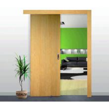 Porta deslizante folheada personalizada da madeira maciça do carvalho