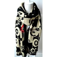 Châle en acrylique tricoté (12-BR201812-19)
