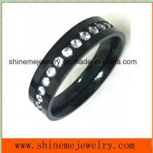 Negro de moda de alta calidad con anillo de dedo de joyería de zircón (czry2552)