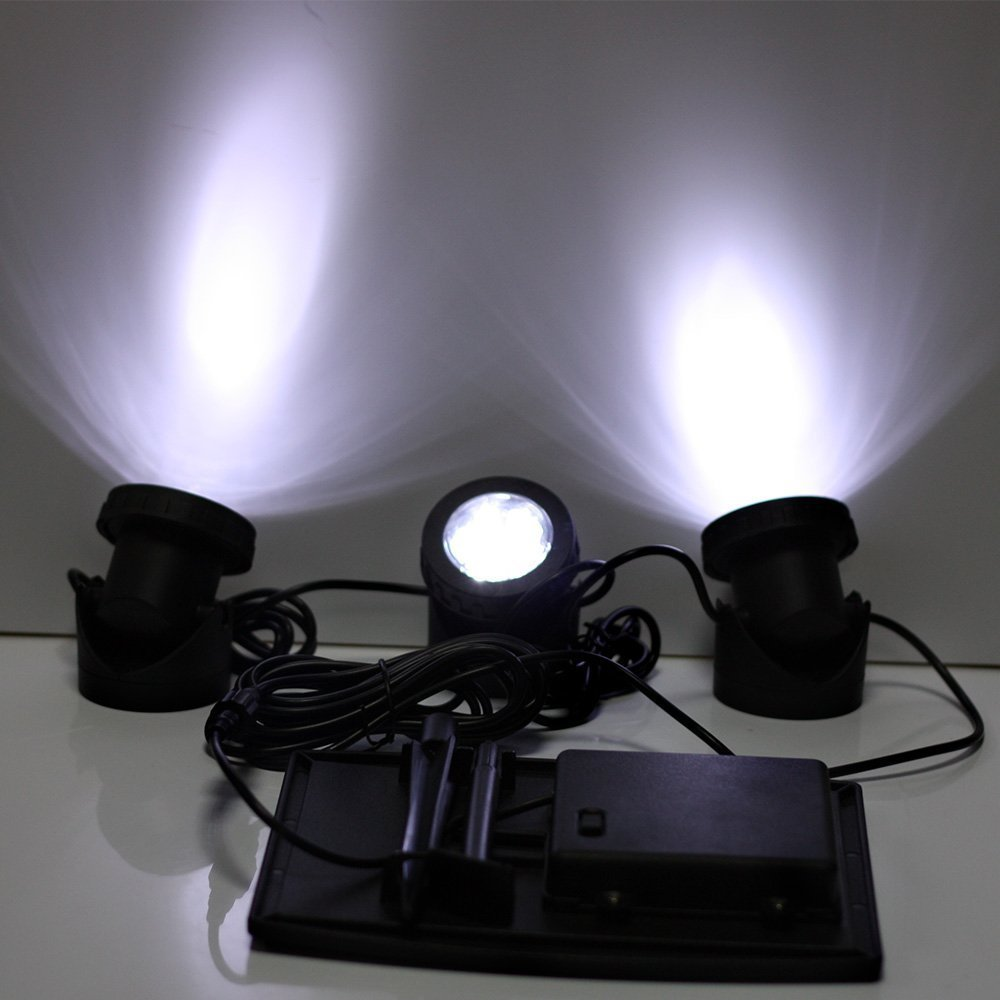 Solar LED light with RGB color
