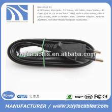 Flat EU 2 Prongs Type8 Laptop cabo de alimentação AC