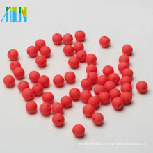 bracelets fitting solid red iridescent acrylic round beads neon color beads