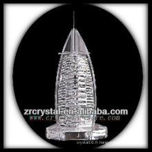 Magnifique modèle de bâtiment en cristal H049