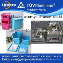 Molde de plástico del almacenaje del molde del almacenaje de 2 gradas / molde de la caja de almacenaje de múltiples capas