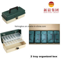 Green Color 2 Tray Sorted Fishing Tackle Box