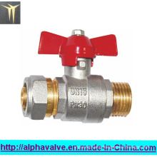 Mini Brass Water Ball Valve with Butterfly Handle (a. 0124)
