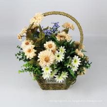 decoración del hogar DIY artificial colgante cesta plantas con flores