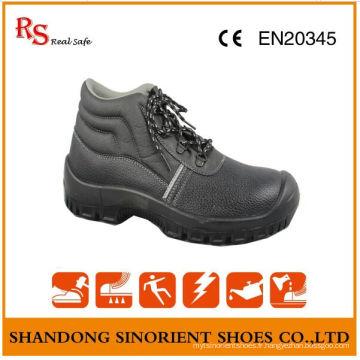 Chaussures de sécurité en cuir noir les plus vendues S3 Src RS004