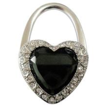 Titular de forma promocional corazón de la forma del monedero con el diamante cristalino (f2017)