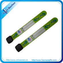 Customized Promotional Silkscreen Printing Soft PVC Wristbands