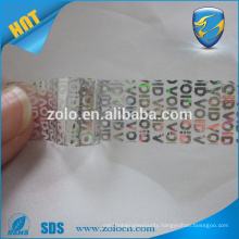 Professional Brittle film strong shape stickers labels