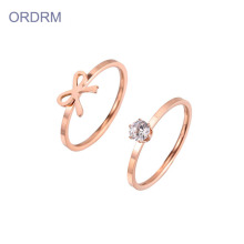 Rose Gold Wedding Ring Set Nya Dan Miliknya