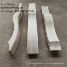 pièces de la suite forte jambes en bois pieds en bois d'ameublement non peints