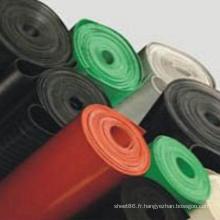 Rouleau de feuille de caoutchouc isolant coloré