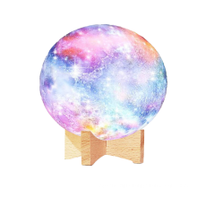 3Moon Lamp Kids moonshape  Night Light  Lamp  16 Colors LED 3D Star Moon Light with Wood Stand, Remote & Touch Control USB Re