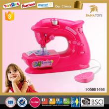 Beleza cores menina casa jogar bateria operado máquina de costura brinquedo para crianças