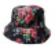 Chapéu de balde com tecido floral (BT060)