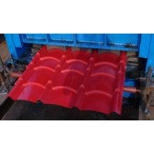 Цветная автоматическая машина для производства стальных рулонов из оцинкованной черепицы / линия кровельной обработки