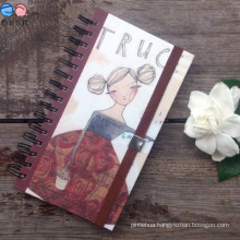 40k Customized Blank Spiral Notebook with Elastic Ribbon