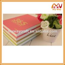 Papeterie coréenne à la vente chaude de cahier de couverture rigide, personnalisée toutes sortes de cahier
