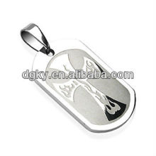 Surgical Steel Flaming Cross Pendant Body Jewelry