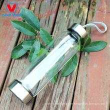 Botella de agua de cristal personalizada con Crystal Stone