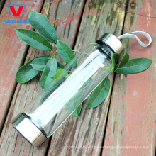Пользовательские стеклянная бутылка воды с Кристалл камень