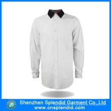 Diseños de uniformes de oficina de algodón de moda personalizados para hombres