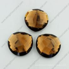 Grânulos de pedras de vidro planas