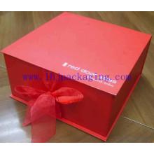 Caja plegable de chocolate rojo personalizado