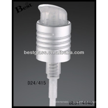 24/415 bomba de jabón que hace espuma de la mano de aluminio plástica, disparadores cosméticos del rociador de las botellas, rociador de la bomba del perfume