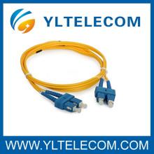 Cordón de remiendo de la fibra óptica SC con Corning Fiber 1M ignífugo