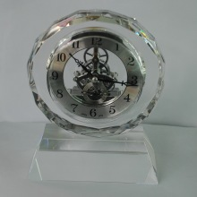 Faces Crystal Silver Clock Trophy Crafts with Base Accept Logo