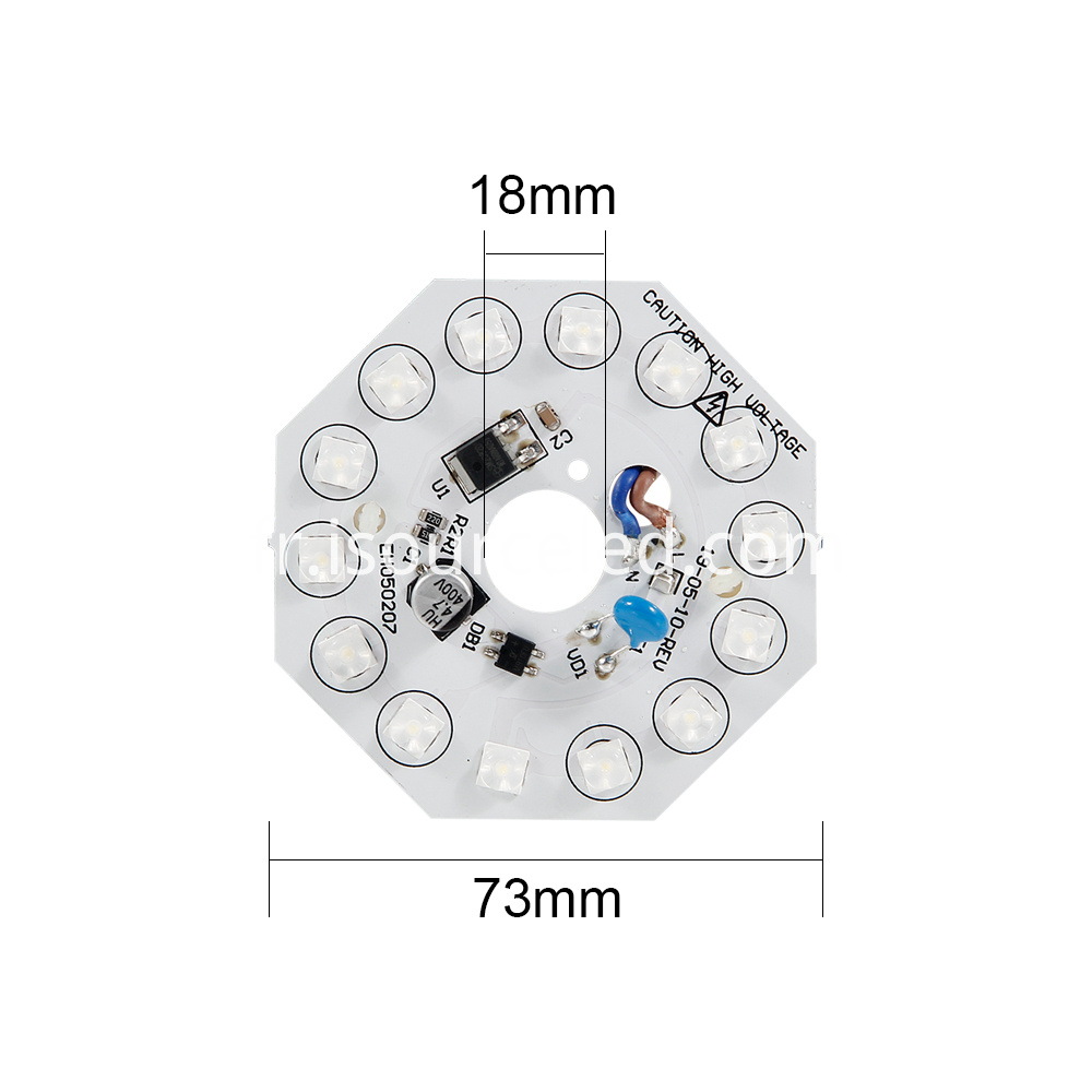 Bottom picture of Lens AC linear white light 8W ceiling module