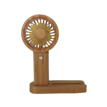 The Best Partner In Summer 3 In1Bamboo Fan  With Power Bank Hand Fan Portable USB Rechargeable Small Pocket Fan Battery Operated