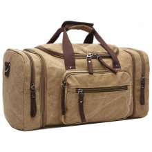 8642 Fashion Large Canvas Travel Tote Luggage Men′s Weekender Duffle Bag for Women & Men with 44L