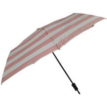 Damen drei faltbare Hand öffnen Großhandel Mini rosa Regenschirm