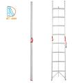 Escalera recta doble de aluminio de 2 * 3 pasos, escalera de agilidad, escaleras plegables